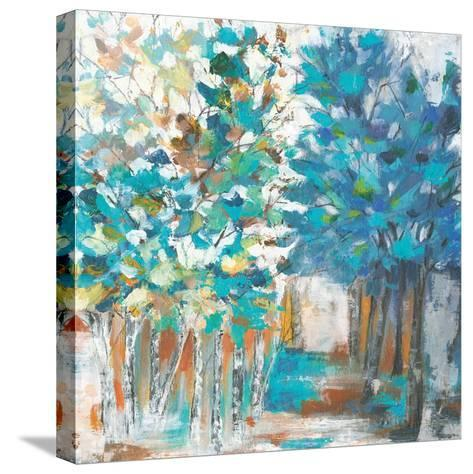 Pathway of Blue-Eva Watts-Stretched Canvas Print