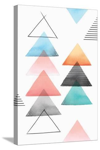Group of Triangles II-Isabelle Z-Stretched Canvas Print