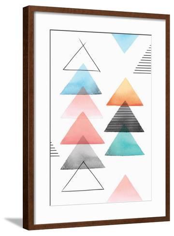 Group of Triangles II-Isabelle Z-Framed Art Print