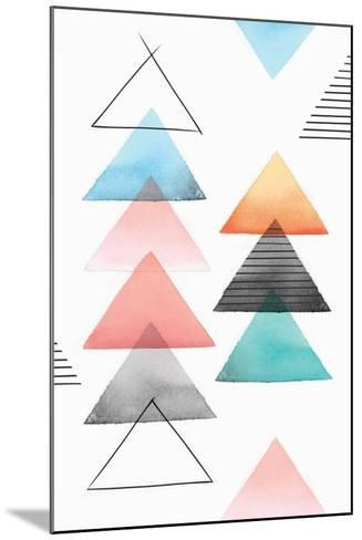 Group of Triangles II-Isabelle Z-Mounted Art Print