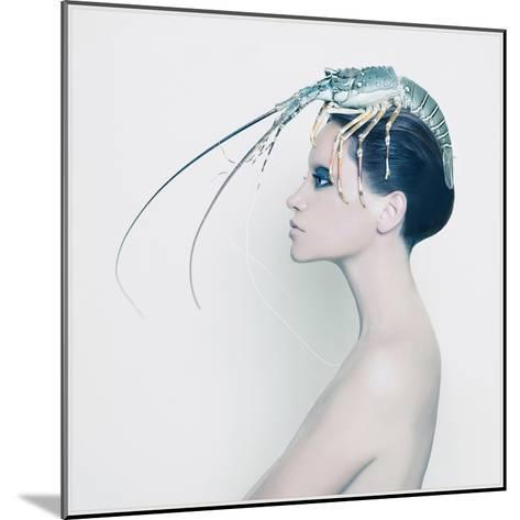 The Lady and the Hummer- Haute Couture-Mounted Art Print