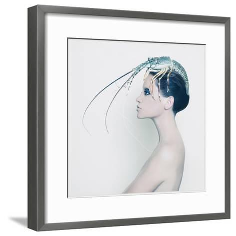 The Lady and the Hummer- Haute Couture-Framed Art Print