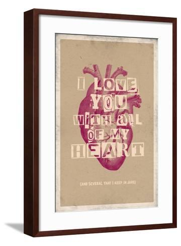 I Love You With All My Heart--Framed Art Print