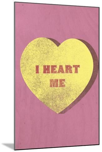 I Heart Me Candy--Mounted Art Print