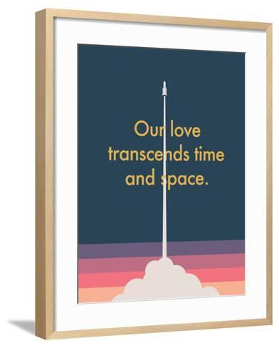 Time And Space Rocket--Framed Art Print