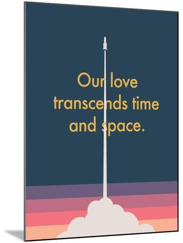 Time And Space Rocket--Mounted Art Print