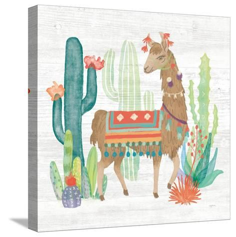 Lovely Llamas III-Mary Urban-Stretched Canvas Print