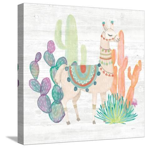 Lovely Llamas II-Mary Urban-Stretched Canvas Print