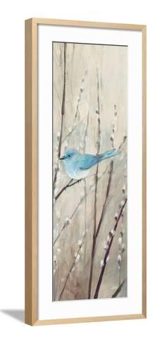 Pretty Birds Neutral III-Julia Purinton-Framed Art Print