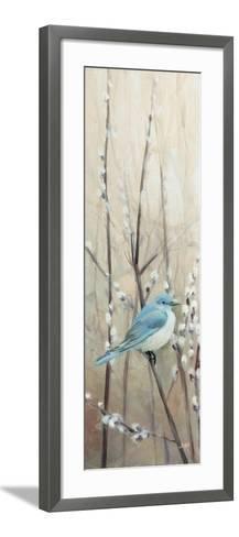 Pretty Birds Neutral II-Julia Purinton-Framed Art Print