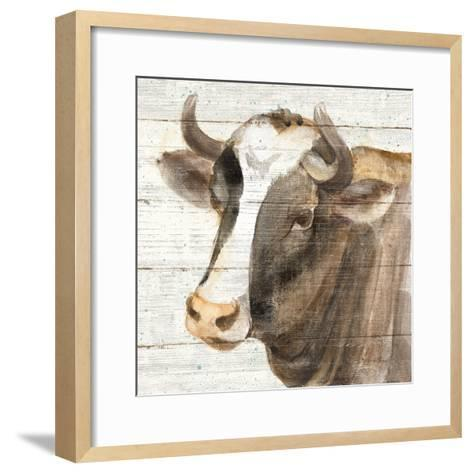 Looking at You II Shiplap-Albena Hristova-Framed Art Print