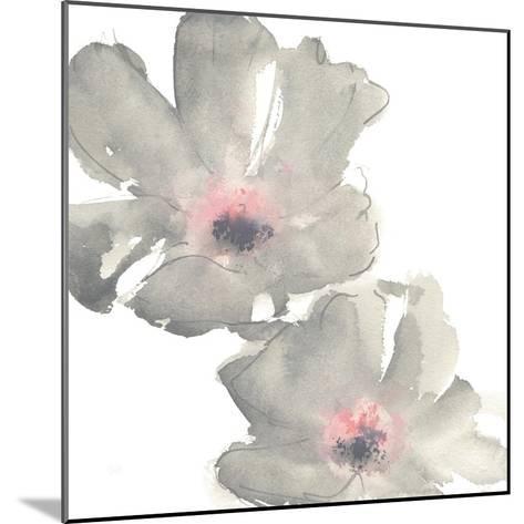 Gray Blush Cosmos I on White-Chris Paschke-Mounted Art Print