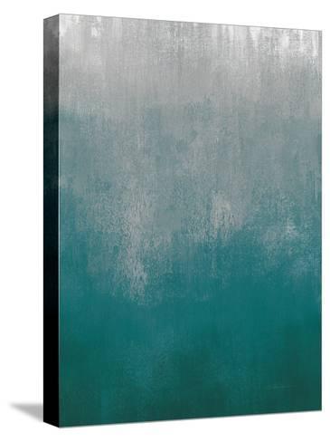 Silver Wave I Green Crop-Silvia Vassileva-Stretched Canvas Print