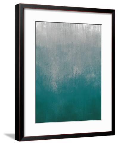 Silver Wave I Green Crop-Silvia Vassileva-Framed Art Print