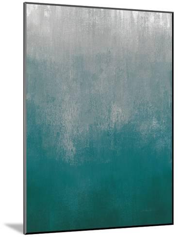 Silver Wave I Green Crop-Silvia Vassileva-Mounted Art Print