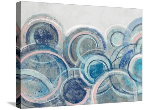 Variation Blue Grey Pink Crop-Silvia Vassileva-Stretched Canvas Print