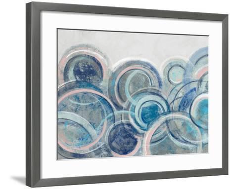 Variation Blue Grey Pink Crop-Silvia Vassileva-Framed Art Print