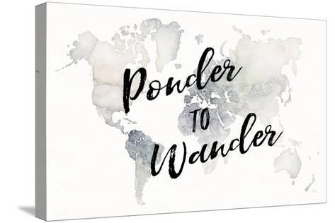 Watercolor Wanderlust Ponder-Laura Marshall-Stretched Canvas Print