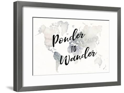 Watercolor Wanderlust Ponder-Laura Marshall-Framed Art Print