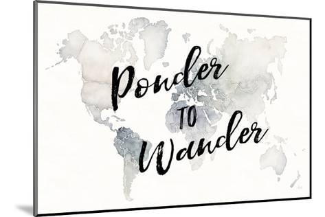 Watercolor Wanderlust Ponder-Laura Marshall-Mounted Art Print