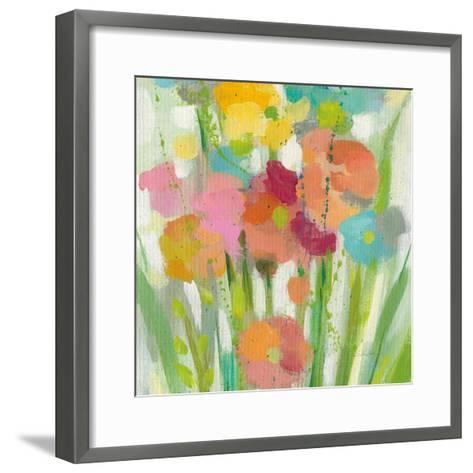 Longstem Bouquet II Square II-Silvia Vassileva-Framed Art Print