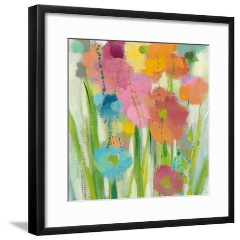 Longstem Bouquet I Square II-Silvia Vassileva-Framed Art Print