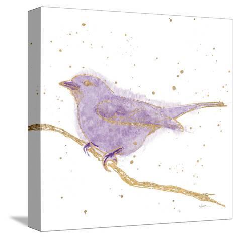 Gilded Bird I Lavender-Shirley Novak-Stretched Canvas Print