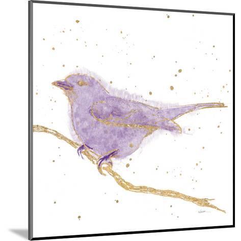 Gilded Bird I Lavender-Shirley Novak-Mounted Art Print