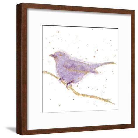 Gilded Bird I Lavender-Shirley Novak-Framed Art Print