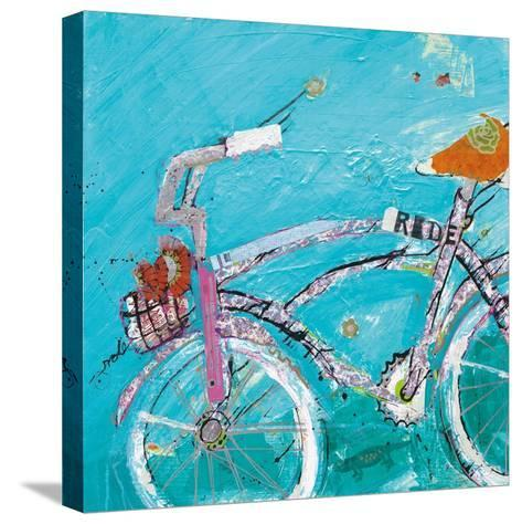 Ride Blue Pink-Kellie Day-Stretched Canvas Print