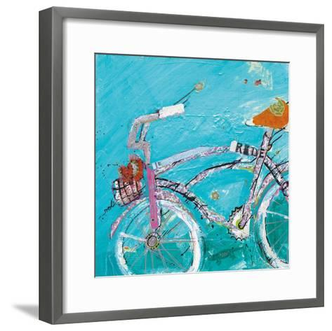 Ride Blue Pink-Kellie Day-Framed Art Print