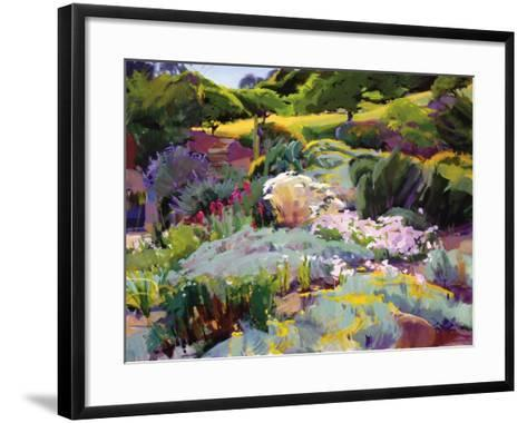 Hillside Garden-Marcia Burtt-Framed Art Print