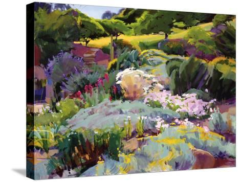 Hillside Garden-Marcia Burtt-Stretched Canvas Print