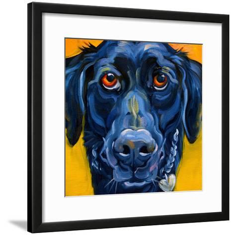 Black Dog-Connie R. Townsend-Framed Art Print