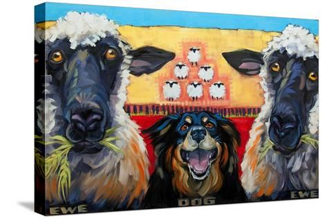 Ewe Dog Ewe-Connie R. Townsend-Stretched Canvas Print