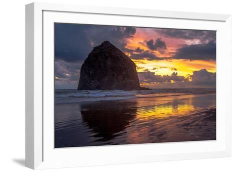 Cannon Beach Sunset-Tim Oldford-Framed Art Print
