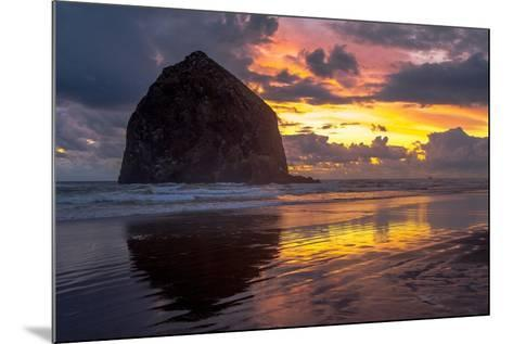 Cannon Beach Sunset-Tim Oldford-Mounted Photographic Print