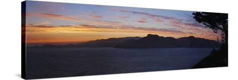 Golden Gate and San Francisco Bay at Dusk, California-Anna Miller-Stretched Canvas Print