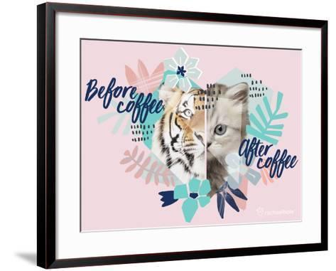 Coffee Cat-Rachael Hale-Framed Art Print
