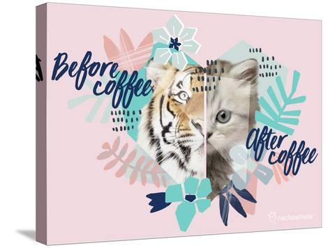 Coffee Cat-Rachael Hale-Stretched Canvas Print