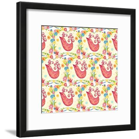 Birds Pattern-Jacque Pierro-Framed Art Print