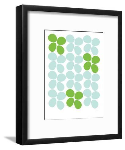 Green Flowers-Avalisa-Framed Art Print