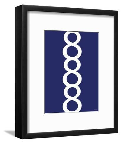 Navy Figure 8 Design-Avalisa-Framed Art Print