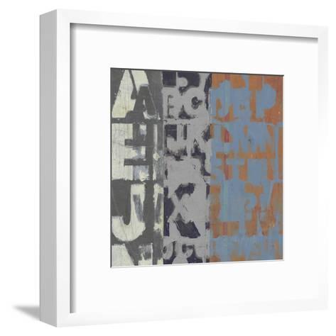 Alphabet Overlay I--Framed Art Print