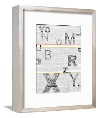 Numbers Grey-NaxArt-Framed Art Print