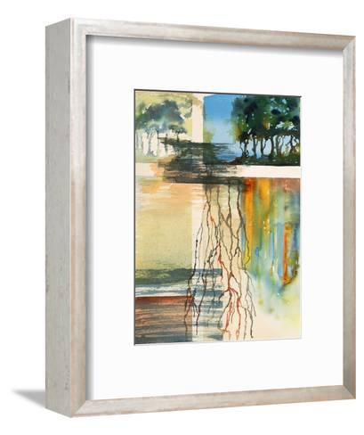 A Semi-Abstract Watercolor Painting-clivewa-Framed Art Print