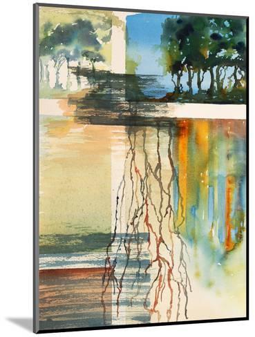 A Semi-Abstract Watercolor Painting-clivewa-Mounted Art Print
