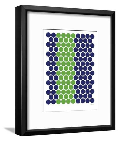 Blue Green Dots-Avalisa-Framed Art Print