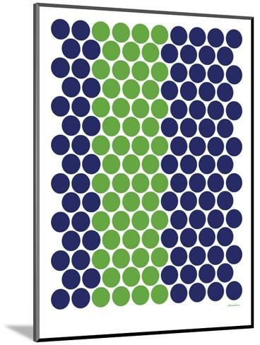 Blue Green Dots-Avalisa-Mounted Art Print