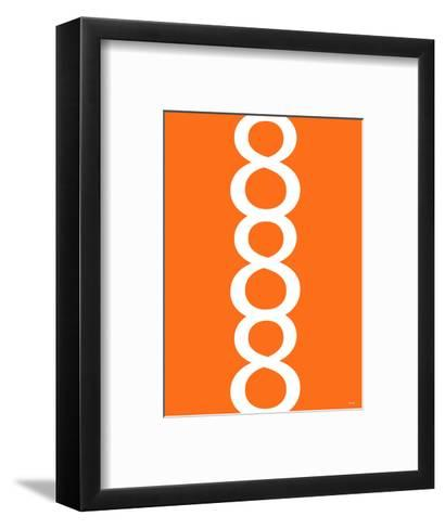 Orange Figure 8 Design-Avalisa-Framed Art Print